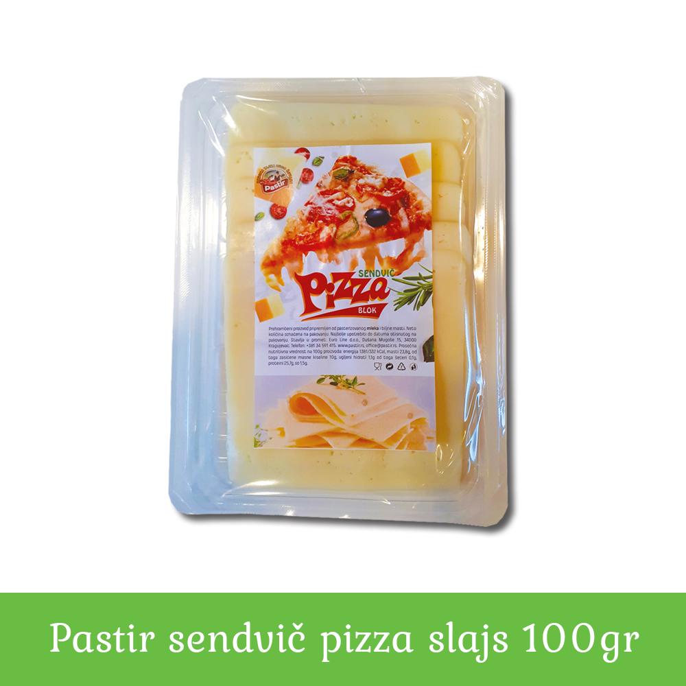 Pastir sendvič pizza slajs